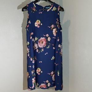 Anthropologie Fleur Bleue floral dress size 10